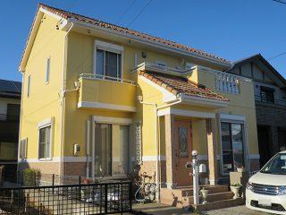 春日井市K様邸、外壁屋根塗装工事、施工後、外観写真