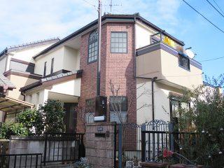 一宮市M様邸、外壁屋根塗装工事、施工後、外観写真
