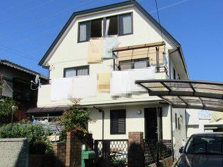 春日井市O様邸、外壁屋根塗装工事、施工後、外観写真