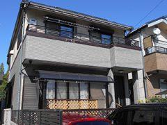 名古屋市T様邸、外壁塗替え工事、施工前、全景画像