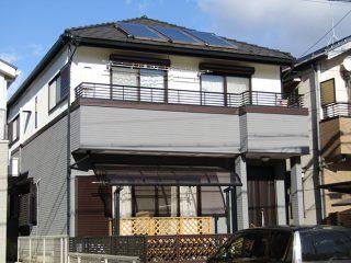 名古屋市S様邸、外壁塗装工事、施工後、外観写真