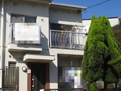 名古屋市H様邸、外壁屋根塗替え工事、施工前、全景画像