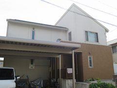 幸田町K様邸、外壁屋根塗替え工事、施工前、全景画像