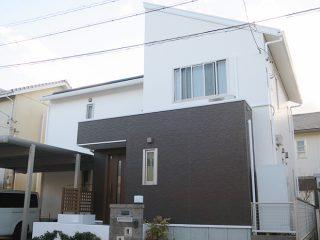 幸田町K様邸、外壁屋根塗装工事、施工後、外観写真