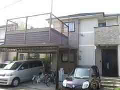 春日井市K様邸、外壁屋根塗替え工事、施工前、全景画像