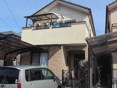 岩倉市F様邸、外壁塗替え工事、施工前、全景画像