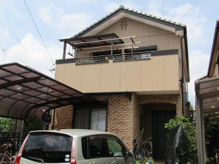 岩倉市F様邸、外壁塗装工事、施工後、外観写真