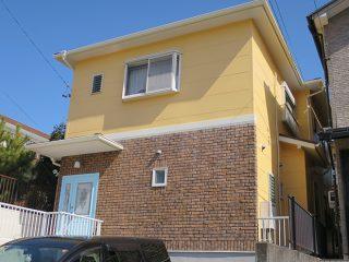尾張旭市Y様邸、外壁屋根塗装工事、施工後、外観写真