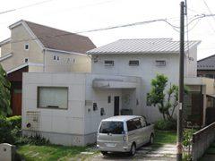 春日井市T様邸、外壁塗替え工事、施工前、全景画像