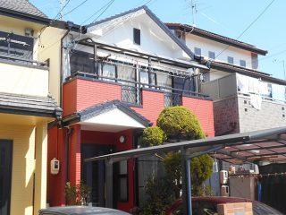春日井市F様邸、外壁塗装工事、施工後、外観写真