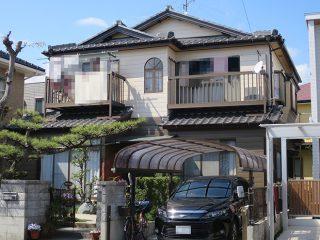 春日井市I様邸、外壁塗替え工事、施工後、全景画像