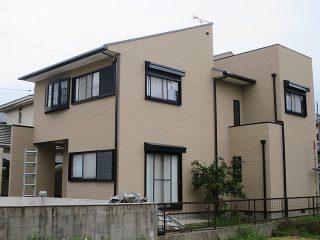 春日井市A様邸、外壁屋根塗替え工事、施工後、全景画像