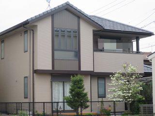 春日井市K様邸、外壁塗替え工事、施工後、全景画像
