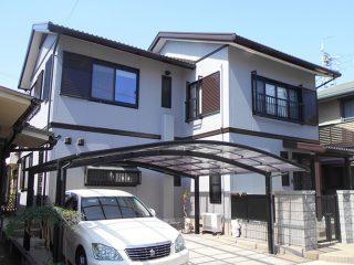 豊明市K様邸、外壁屋根塗替え工事、施工後、全景画像