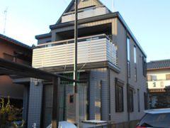 尾張旭市B様邸、外壁屋根塗装工事、施工前、外観写真