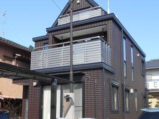 尾張旭市B様邸、外壁屋根塗替え工事、施工後、全景画像