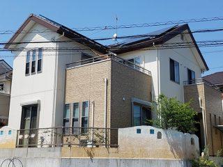 春日井市T様邸、外壁塗替え工事、施工後、全景画像