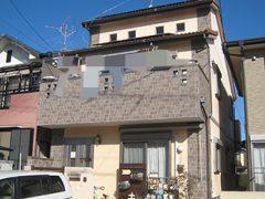 春日井市S様邸、外壁塗装工事、施工前、外観写真