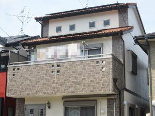 春日井市S様邸、外壁塗替え工事、施工後、全景画像