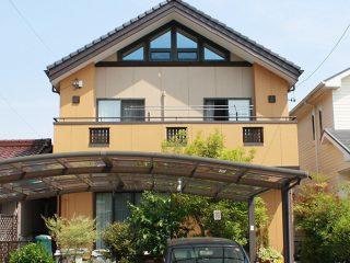 春日井市N様邸、外壁塗替え工事、施工後、全景画像