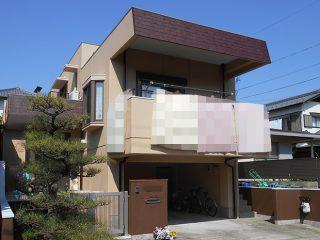 春日井市S様邸、外壁屋根塗替え工事、施工後、全景画像