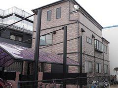 名古屋市U様邸、外壁塗装工事、施工前、外観写真