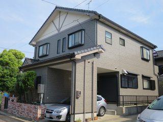 名古屋市K様邸、外壁塗替え工事、施工後、全景画像