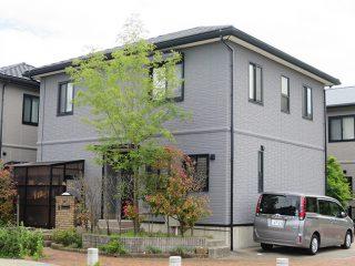 幸田町T様邸、外壁塗替え工事、施工後、全景画像