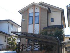 春日井市M様邸、外壁屋根塗装工事、施工前、外観写真