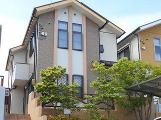 春日井市M様邸、外壁屋根塗替え工事、施工後、全景画像