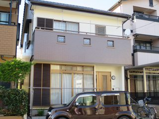 春日井市M様邸、外壁塗替え工事、施工後、全景画像