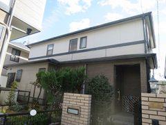 春日井市K様邸、外壁屋根塗装工事、施工前、外観写真