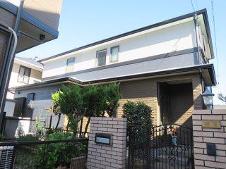 春日井市K様邸、外壁屋根塗替え工事、施工後、全景画像