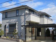 春日井市S様邸、外壁屋根塗装工事、施工前、外観写真
