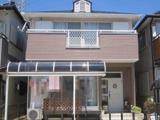 春日井市H様邸、外壁屋根塗替え工事、施工後、全景画像