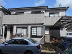 稲沢市T様邸、外壁塗装工事、施工前、外観写真