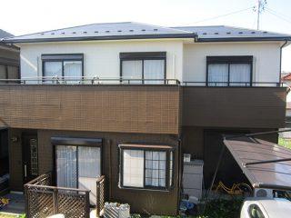 稲沢市T様邸、外壁塗替え工事、施工後、全景画像
