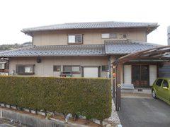 岐阜県瑞浪市Y様邸 外壁塗装工事 施工前 全景写真