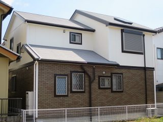 春日井市K様邸 外壁屋根塗り替え工事 施工後 外観画像