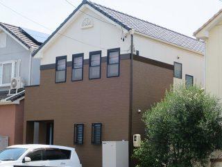 名古屋市K様邸 外壁塗り替え工事 施工後 外観画像