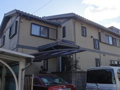 豊田市Y様邸 外壁塗装工事 施工前 全景写真