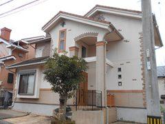 岐阜県多治見市Y様邸 外壁屋根塗装工事 施工前 全景写真