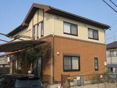 瀬戸市K様邸 外壁塗装工事 施工前 全景写真