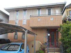 名古屋市N様邸 外壁屋根塗り替え工事 施工前 全景写真
