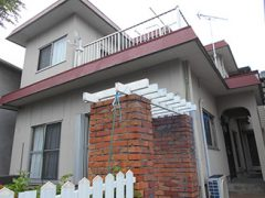 名古屋市S様邸 外壁塗り替え工事 施工前 全景写真