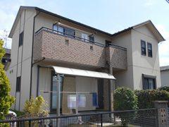 大垣市H様邸 外壁塗り替え工事 施工前 全景写真