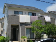 名古屋市T様邸 外壁屋根塗り替え工事 施工前 全景写真