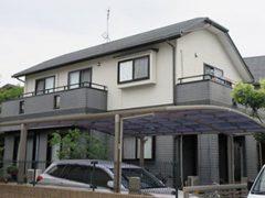 福岡市M様邸 外壁屋根塗り替え工事 施工前 全景写真