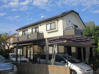 福岡市K様邸 外壁屋根塗装工事 施工後 外観画像