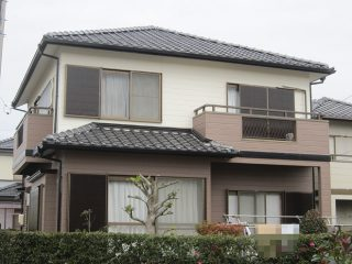 春日井市N様邸 外壁塗装工事 施工後 外観画像
